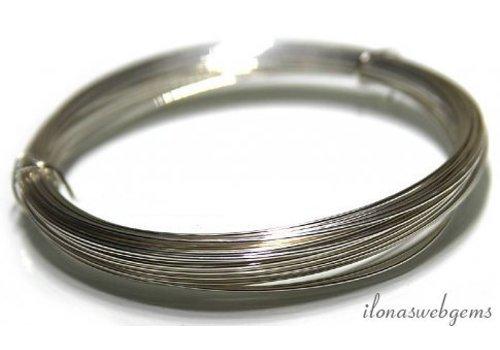 1cm Silber gefüllt Hälfte harten Draht 0,5 mm / 24GA