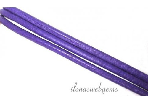 Leather cord lilac 2mm