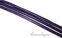 Violet Lederband 2mm