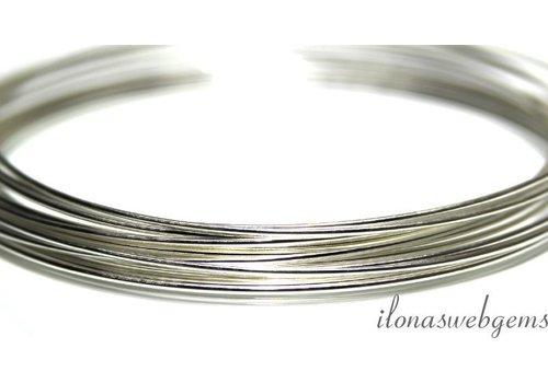 1cm sterling zilverdraad hard 0.4mm / 26GA