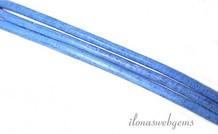 Lederband 1,3 mm blau