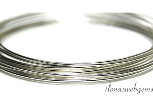 1cm sterling silver wire norm. About 1.5mm / 14GA
