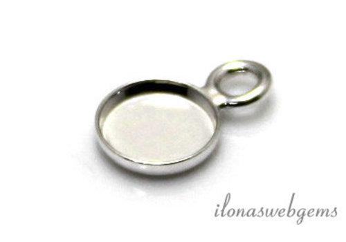 Sterling zilveren hangertje voor cabochon 10mm