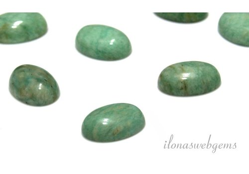 Amazonite Cabochon oval etwa 14x10mm