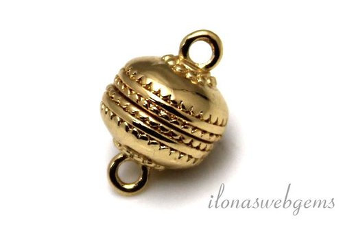 Gold plated (rosé) magnet lock approx. 12mm