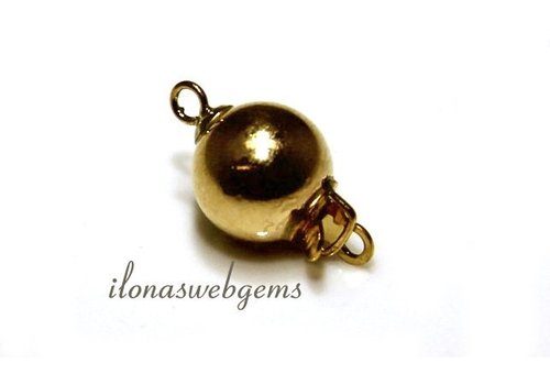 Vermeil bakslotje Perle 10mm