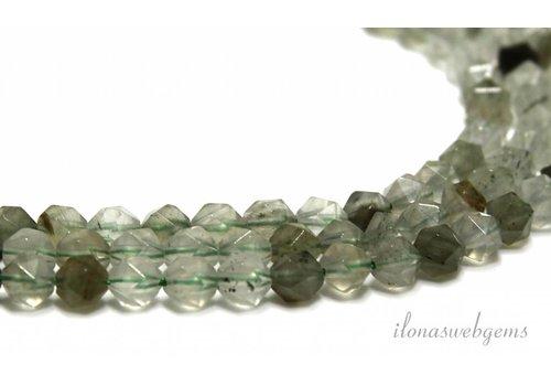 Grüne Rutielkwarts Facet Perlen 5.5mm