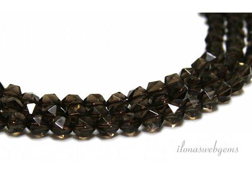 Smoke quartz beads facet approx 6mm