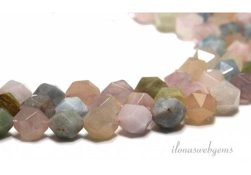 Morganiet Facet Perlen etwa 8,5 mm