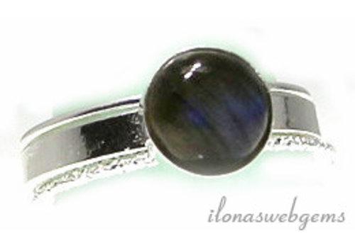 Inspiratie ring: Sterling zilver, Labradoriet cabochon 8mm