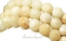 Yellow Aventurin Perlen rund um 12.5mm gefrostet