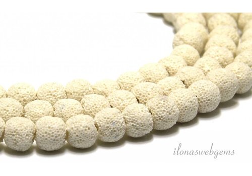 Lavender beads loam white approx 10mm