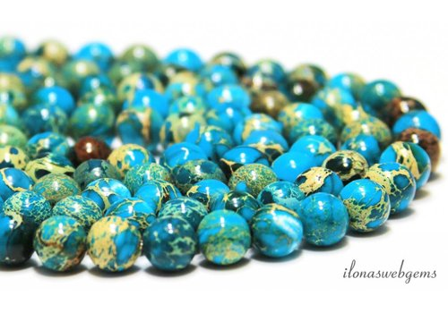 Imperial Jasper beads about 10mm