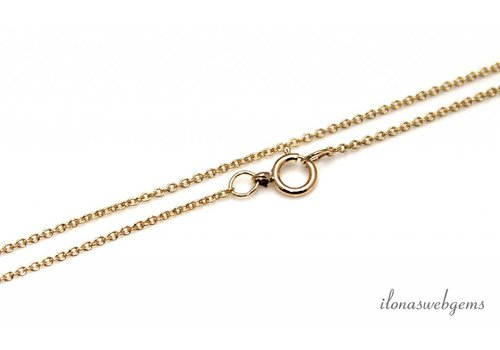 14k/20 Gold filled ketting met slotje ca. 1,2mm