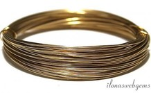 1cm 14k / 20 Gold, das gefülltes Garn weich 0,6 mm / 22GA