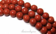 Red Jaspis Perlen etwa 8,5 mm