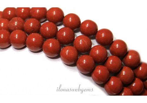 Rode Jaspis kralen rond ca. 8mm
