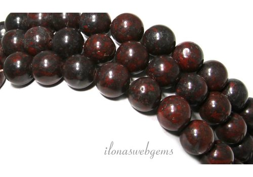 Jasper beads around approx. 10.5mm