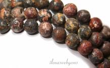 Red Leopard Haut Jaspis Perlen rund 8mm