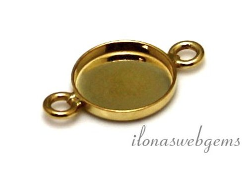 Vermeil connector for cabochon 10mm