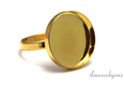 Vermeil Ring für Cabochon 18mm