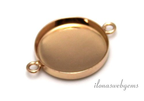 Rosé vermeil connector for cabochon 18mm