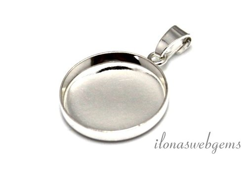 Sterling silver pendant for cabochon 18mm