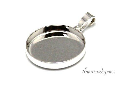 Sterling Silber Anhänger für Cabochon 20mm