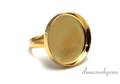 Vermeil Ring für Cabochon 20mm