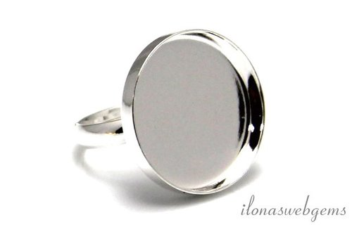 Sterling silver ring for cabochon 20mm