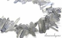 Bergkristal obelisken electro plated ca. 15-35x5mm