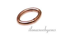 10 PC Rose 14k / 20 Gold, das gefülltes Auge geschlossen etwa oval 5x3.5x0,6mm