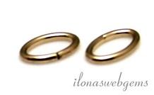 1x 14k / 20 Gold, das gefülltes Auge geschlossen etwa oval 6.5x4x0.75mm