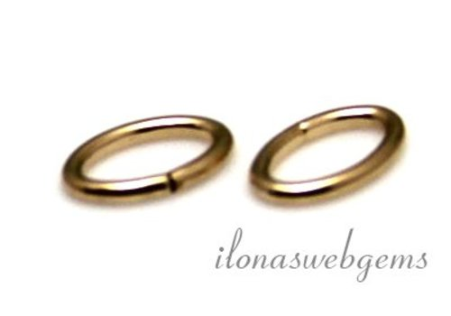 1x 14k / 20 Gold filled eye closed oval approx 6.5x4x0.75mm
