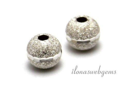 Sterling zilveren stardust kraal bewerkt ca. 8mm