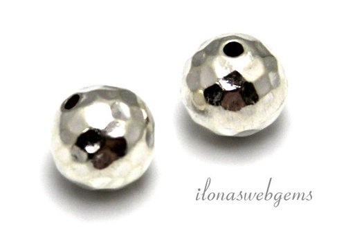 Sterling Silver Hill Tribe bead hammered