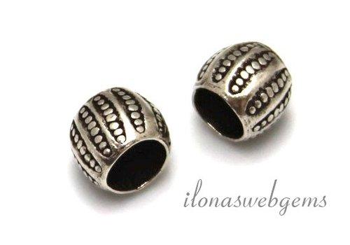 Sterling Hill Tribe Silber Perle mit Perlen mit großer Loch