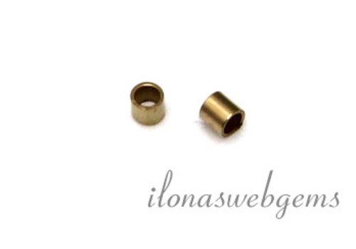 14k/20 Gold filled knijpkraaltjes buis ca. 2x1mm