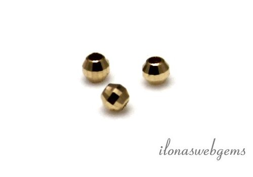 14k gold faceted bead approximately 2mm