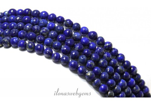 Lapis lazuli beads around approx. 3mm AA quality
