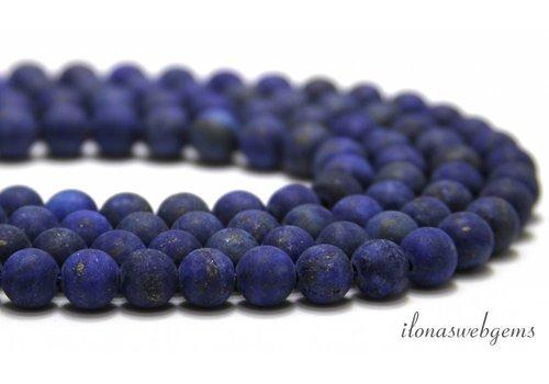 Lapis Lazuli kralen mat rond ca. 8mm