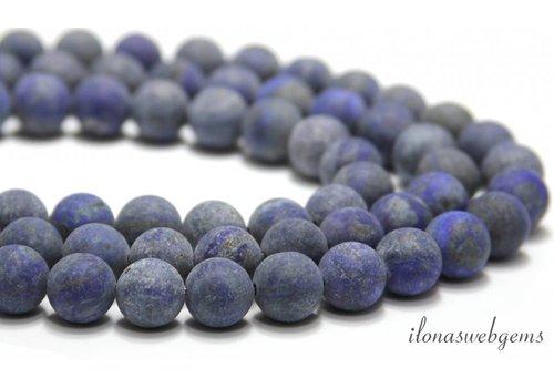 Lapislazuli Perlen rund ca. 12mm mattiert
