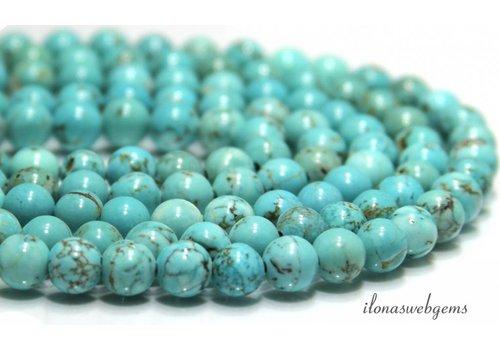 Howlite beads turquoise around 8mm