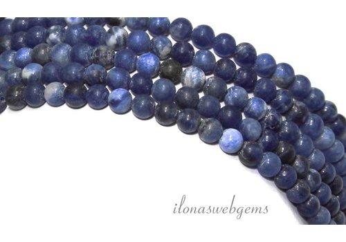 Sodalith Perlen rund um 6mm gefrostet