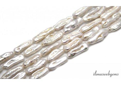 Biwa Perlen ca. 20x7mm