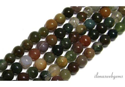 Agaat Indian Achat Perlen ca. 6 mm