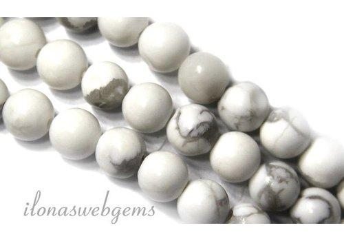 Howlite beads white around approx. 12mm
