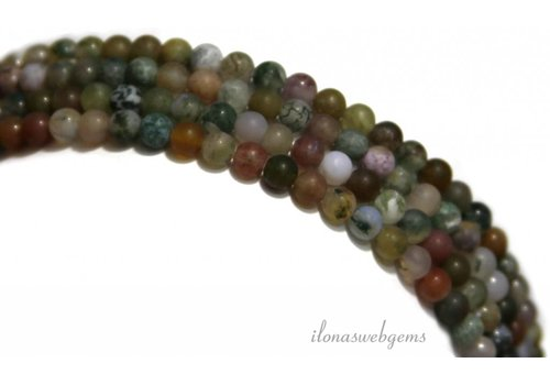 Indian agate beads mat around 6mm