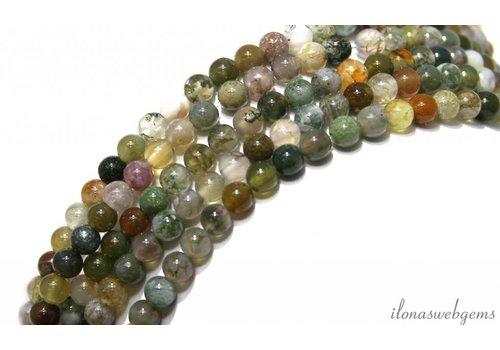 Agaat Indian Achat Perlen bereift ringsum 4.5mm