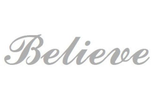 Weiß Rhodium plattiert Namensanhänger Believe